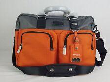 Tumi Alpha Bravo Everett Essential Tote Grey and Orange Duffel Bag 22340GOH $345