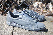 1990's Pro Players Leather Low Cut Sneaker, Gray, Men's Size 7, Made in Korea
