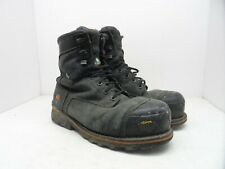 """Timberland Mens 8"""" Boondock Waterproof Safety Work Boot Black 89645 Size 10.5W"""