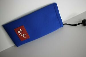 New Authentic Ray-Ban Jr Sunglasses Eyeglasses Blue Drawstring Pouch Case