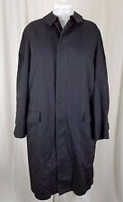 Pietro Sabatini Placket Front Trench Coat Mens 36L Removable Pile Fur Lining