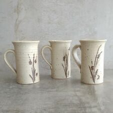 3 Retro Australian Pottery Small Coffee Mugs 200mls MP Speckled Earthy Cups