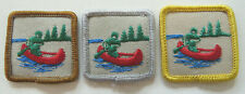 Scouts Canada Canoeing / Paddling Achievement Badges Set of Three