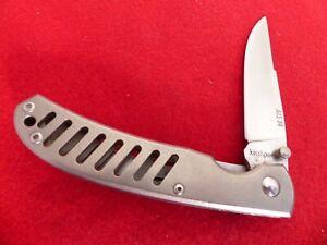 Kershaw Knives Japan Titanium Hawk 1435, ATS34 mint liner lock knife