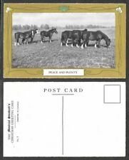 Old Canada Postcard - Montreal Gazette Christmas Greetings - Peace and Plenty