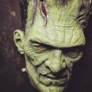 Frankensteins Monster 1/2 Head Sculpture PU resin wall display (PAINTED)