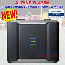 ALPINE R-A75M R-SERIES MONO SUBWOOFER AMPLIFIER, 750 WATTS RMS x 1 at 2 ohms NEW