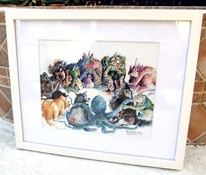"""EUC Ron Rodecker """"The Support Group"""" Signed Numbered Lithographic Print-FRAMED"""
