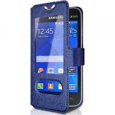 Housse Coque Etui S-view Universel S Couleur Bleu pour Samsung Galaxy Ace 4