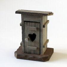 Krippenzubehör Plumpsklo, WC, Klohäuschen, stilles Örtchen, 10 cm Krippendeko