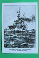 UM8) Marine Frankreich Kriegschiff GAULOIS Geschütze 1914-1918 Engelien 1.WK WWI