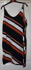 Topshop Black Striped Dress Size 10