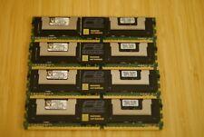 Lot 4 KTM5780/8G IBM Kingston 16GB (4x4GB) 2Rx4 PC2-5300F ECC Reg Memory Kit