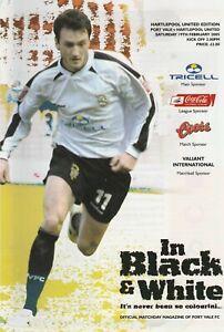 Port Vale v Hartlepool United  19-Feb-2005