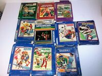 Intellivision Lot of 10 Game Boxes Only Lot H