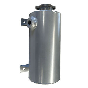 Aluminum Expansion Fill Tank Universal 1.5 Qt. Round Style Silver