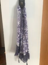 Oblong Scarf Blue Pattern With Tassle At Bottom New With Tag