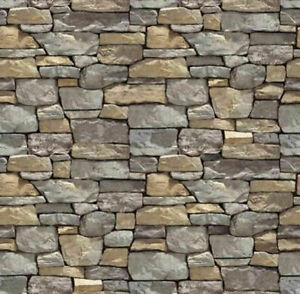 16 SHEETS bumpy EMBOSSED BRICK stone wall paper 21x29cm 1/12 scale b5n6