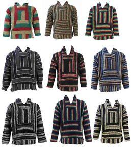 Baja Hoodie Mexiko Jacke Jerga Ethnic Poncho viele Farben Fair Trade