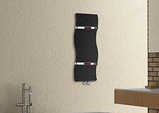 BLACK ONDA binario calorifero radiatore di marca 350 mm di larghezza 1200 mm BAGNO