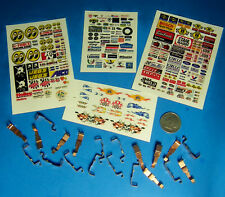 HO Slot Car Parts WIDE PAN Tyco 440 440x2 Pickup Shoe Lot 10 Sets & WHITE DECALS