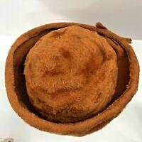 Vintage Bumper Hat Aura Ireland Fuzzy Orange Medium Fisher for Georges Meyer