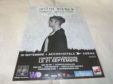 JUSTIN BIEBER - Publicité de magazine / Advert PURPOSE WORLD TOUR  !!!!!