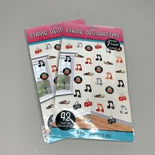 Lot 2 Amscan 50's Fifties Rock & Roll Music Theme Party Foil String Decorations