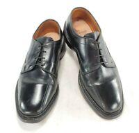 Allen Edmonds Hillcrest Mens Black Leather Derby Bicycle Toe Shoes Sz 8.5 3E