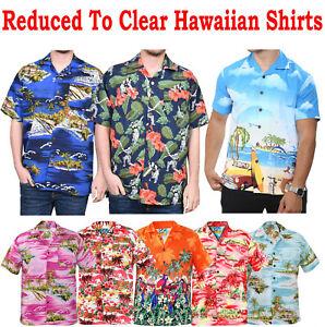 Mens Hawaiian Shirts Beach Holiday Hula Loud Fancy Aloha Party Short Sleeve Top