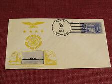 Crosby U.S. Naval Ship Cover - 1953 -  Ship Cancel - USS Bremerton CA-130