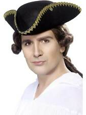 DICK TURPIN TRICORN HAT, FANCY DRESS, VICTORIAN, ONE SIZE, MENS