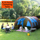 Super Big Camping Tent 8-10 Person Waterproof Hiking Family W/Moisture-proof
