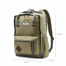 "NEW American Tourister 18"" Cooper Backpack laptop - Olive NEW WITH TAGS"