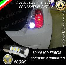 LAMPADA RETROMARCIA FIAT 500 CINQUECENTO 15 LED CANBUS 6000K P21W NO AVARIA