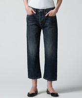 MARC BY MARC JACOBS The Annie Boyfriend Crop Denim Trouser Jeans 24 Blue $298
