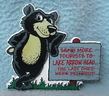 Send More Tourists Bear Lake Arrow Head California Rubber Magnet, Souvenir