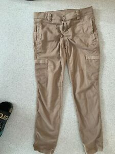 Woman's Cargo Trousers Brown By United Colours Of Benetton Size W34 L30