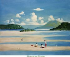 BEACHCOMBERS Oil painting - Large 81x103 cm