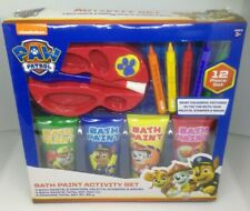 NEW Paw Patrol Childrens 12 Piece Paint Draw and Color Bath Time Activity Set