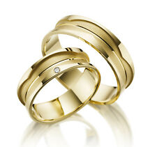 2 x 585 Yellow Gold Wedding Rings,Wedding Rings,Engagement Ring M326