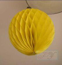 4x 30cm Tissue paper pom pom honeycomb ball lantern for wedding party home decor