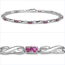 Joyas-Schmidt-Rubin pulsera - 925 plata-rhodiniert - 24 piedras preciosas - 1,74 quilate