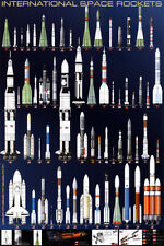 International Space Rockets Poster Print, 24x36