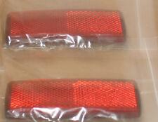2  stick on long red reflectors motorbike caravans motor  trailers mots  x 03