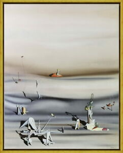 Framed Yves Tanguy Day of Slowness Giclee Canvas Print Paintings Poster
