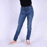 Levi's 721 High Rise Skinny Mittel Blau Damen Jeans DE 36 / US W28 L34