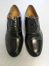 Georgio Brutini black leather, cap toe oxfords, Men's 8.5 M