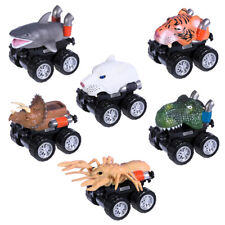 6X Dinosaur Cars Pull Back Vehicle Set Mini Animal Car Boys Toys Birthday Gift