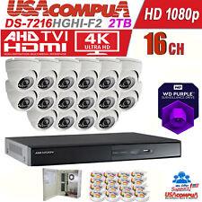Hikvision KIT 16 Ch 16 Cameras TVI HD 1080p DVR 2TB KIT DS-7216HGHI-F2 (2SATA)